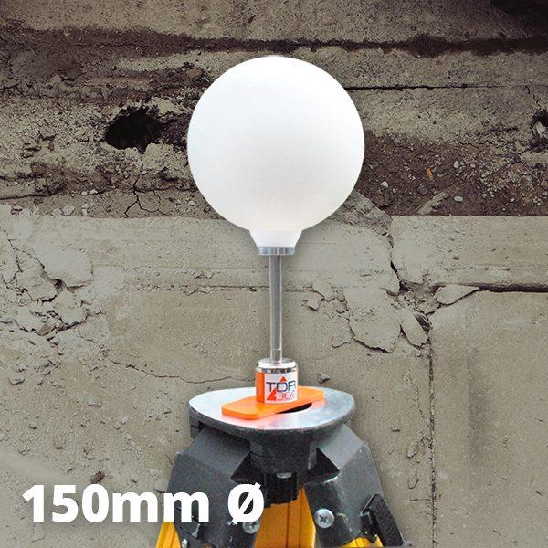3d scanner sphere sur trépied