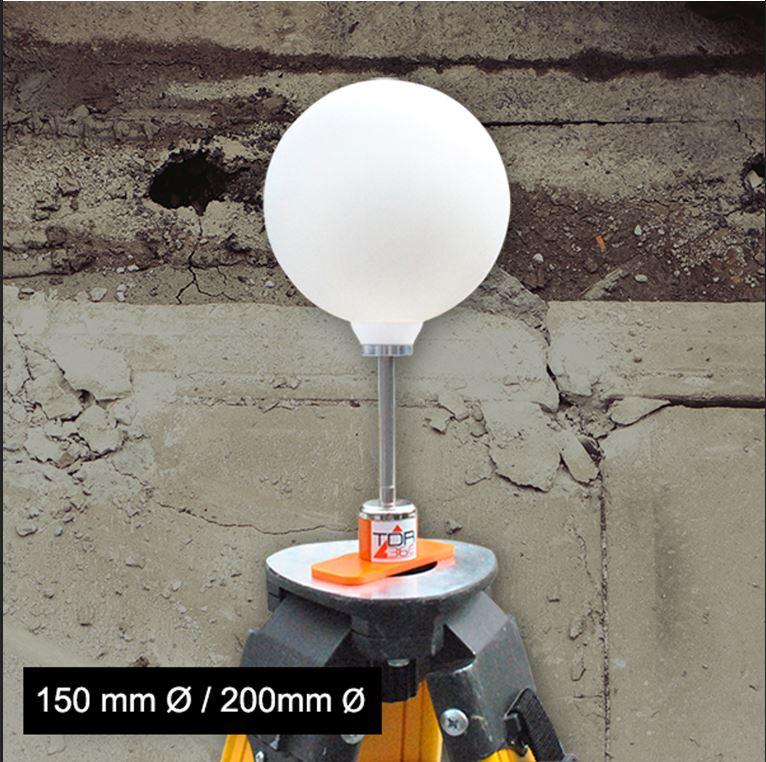 sphère réfléchissante pour scanner 3D
