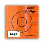Cible d'arpentage orange autocollante - personnalisée