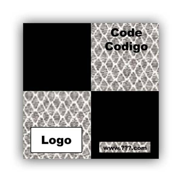 Personalized Reflective Sticker Survey Target 60mm x 60mm (2.5 inch) White