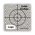 Personalized Reflective Sticker Survey Target (cross) 75mm x 75mm (3 inch) White