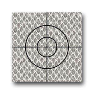 """Cible Réfléchissante D'Arpentage Croix 25mm x 25mm (1 """")"""