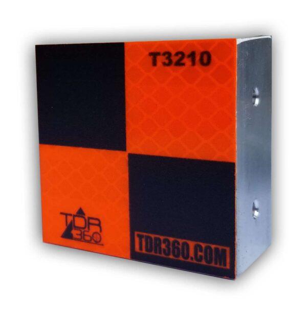 Cible rétro réfléchissante d'arpentage visible sur deux faces Orange