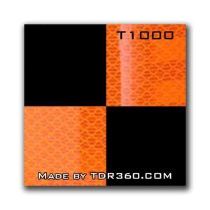 Cible réfléchissante d'arpentage autocollante 25mm x 25mm (1″x1″) – orange