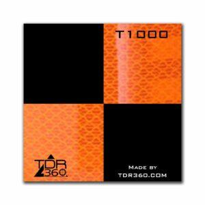 """Cible réfléchissante d'arpentage autocollante 60mm x 60mm (2.5""""x2.5"""") - orange"""
