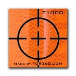 Retro Reflective survey target sticker Cross 25mm x 25mm (1 inch) Orange