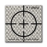 Retro Reflective survey target sticker Cross 25mm x 25mm (1 inch) White
