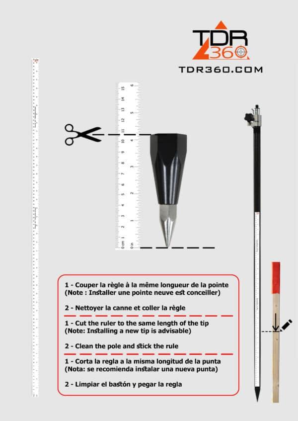 Sticky Ruler For Surveying Pole